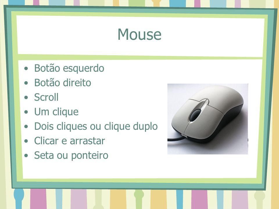Mouse Botão esquerdo Botão direito Scroll Um clique