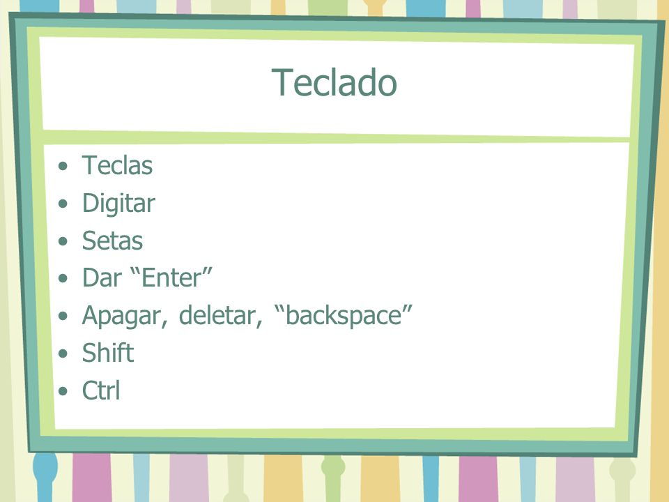 Teclado Teclas Digitar Setas Dar Enter Apagar, deletar, backspace