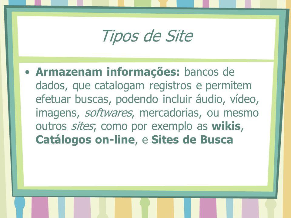 Tipos de Site
