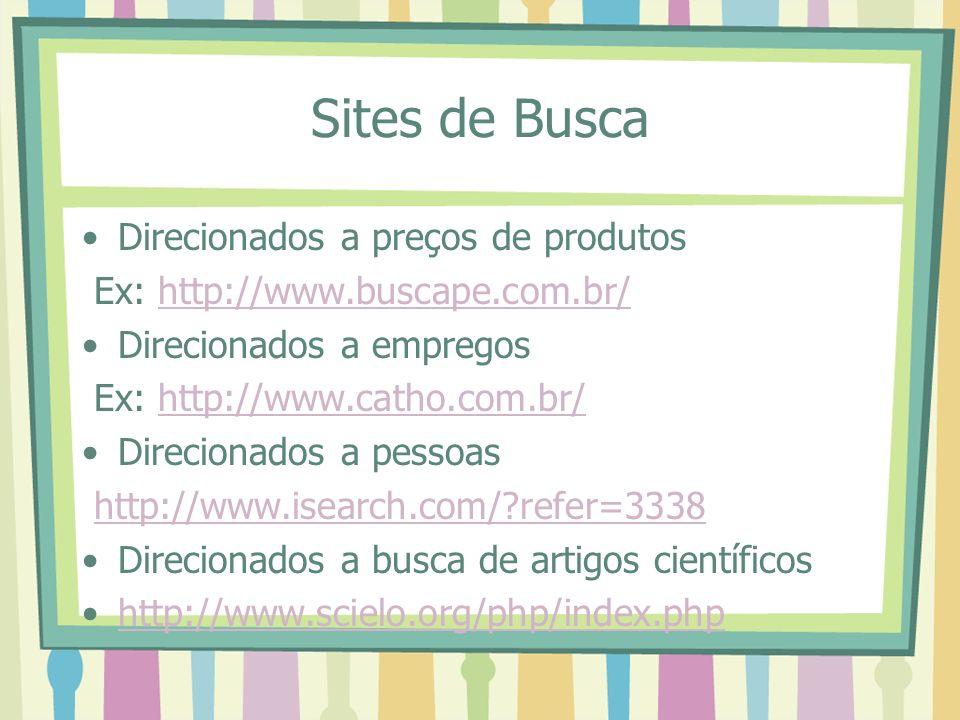 Sites de Busca Direcionados a preços de produtos