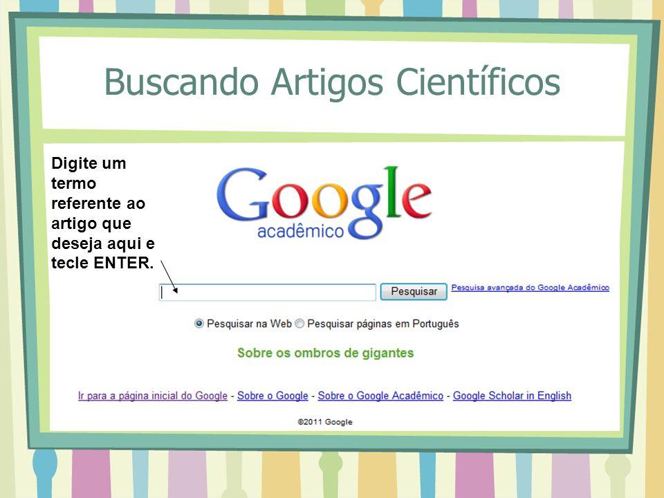 Buscando Artigos Científicos