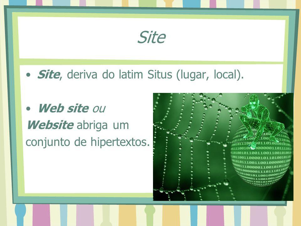 Site Site, deriva do latim Situs (lugar, local). Web site ou