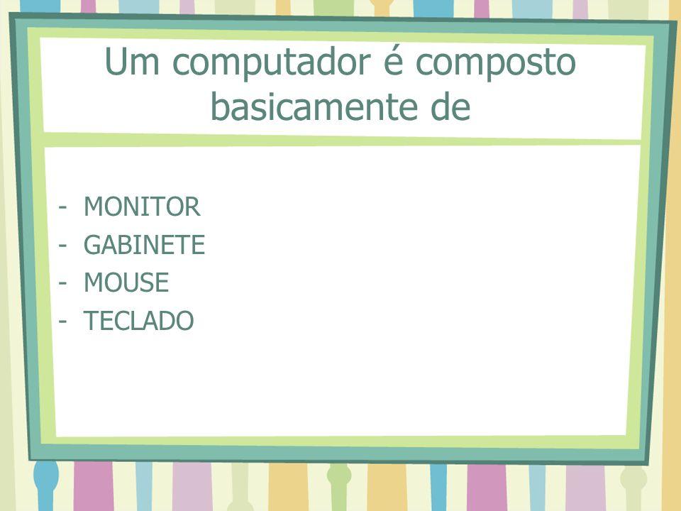 Um computador é composto basicamente de