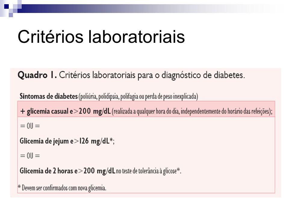 Critérios laboratoriais