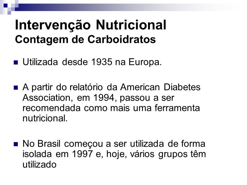 Intervenção Nutricional Contagem de Carboidratos