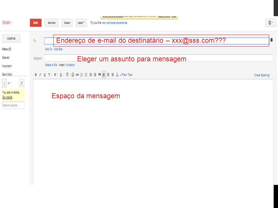 Endereço de e-mail do destinatário – xxx@sss.com