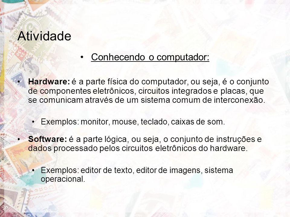 Conhecendo o computador: