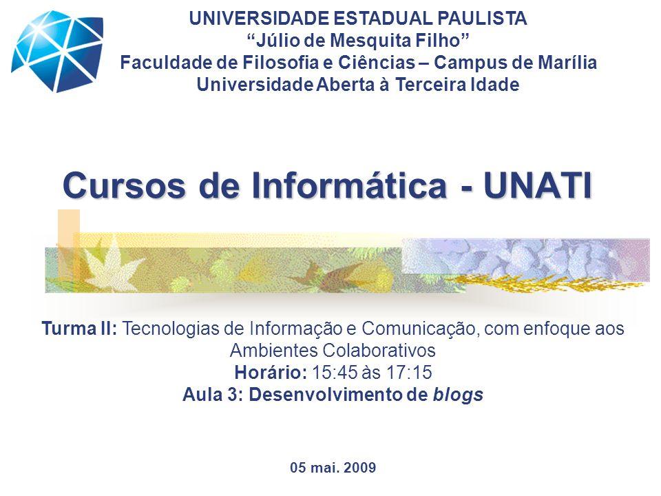 Cursos de Informática - UNATI