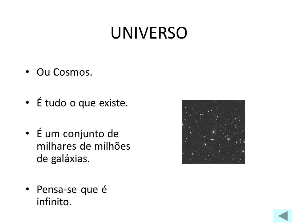 UNIVERSO Ou Cosmos. É tudo o que existe.
