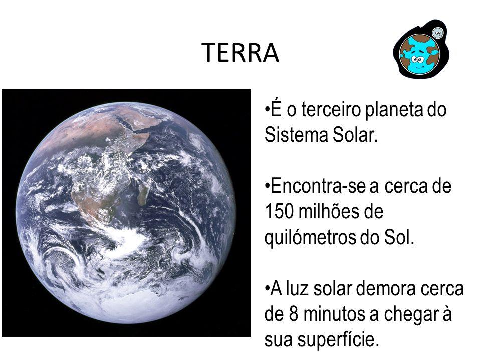 TERRA É o terceiro planeta do Sistema Solar.