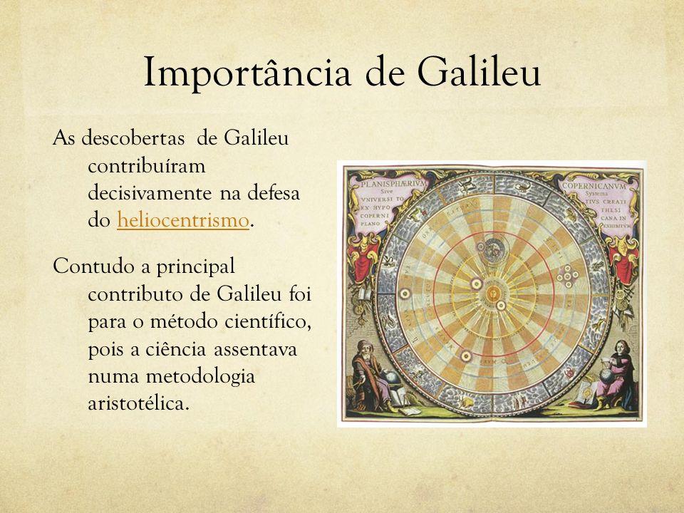 Importância de Galileu