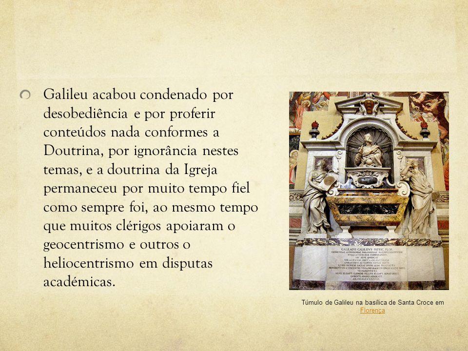 Túmulo de Galileu na basílica de Santa Croce em Florença