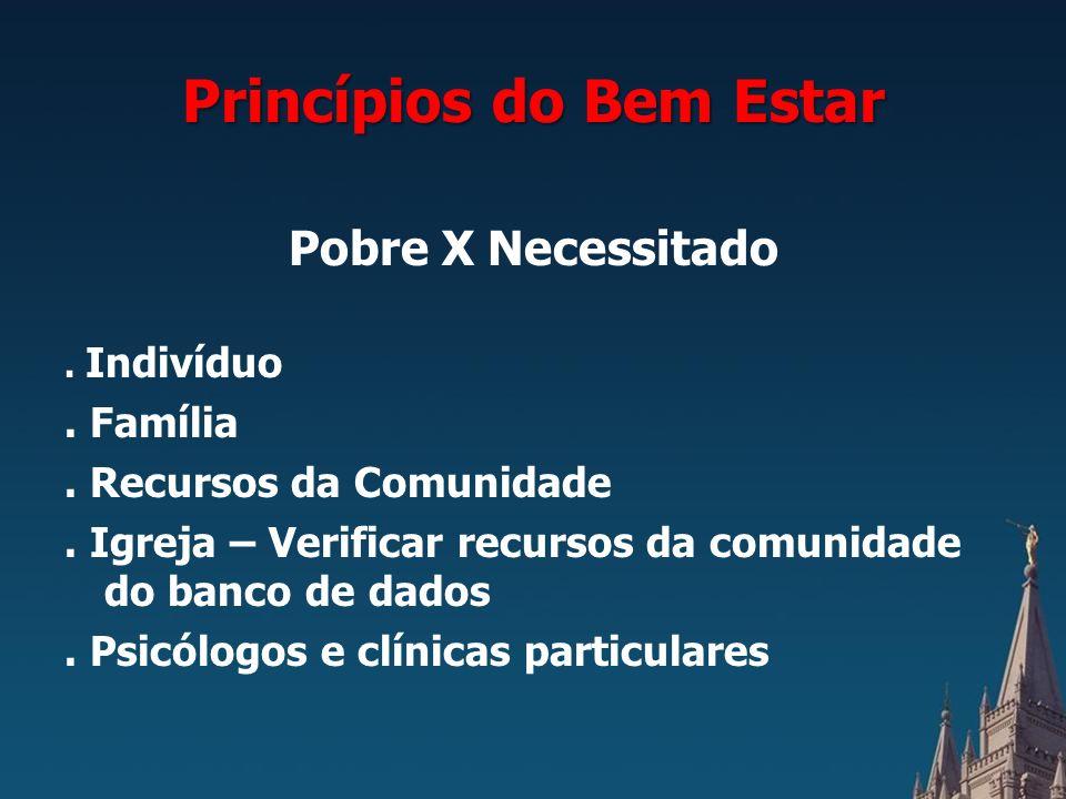 Princípios do Bem Estar