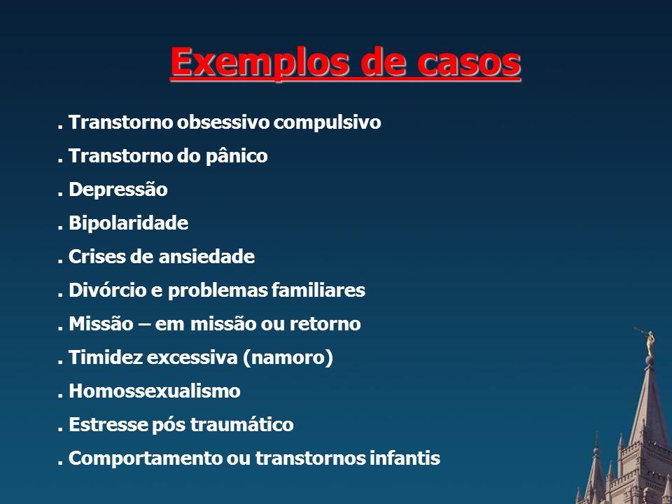 Exemplos de casos . Transtorno obsessivo compulsivo