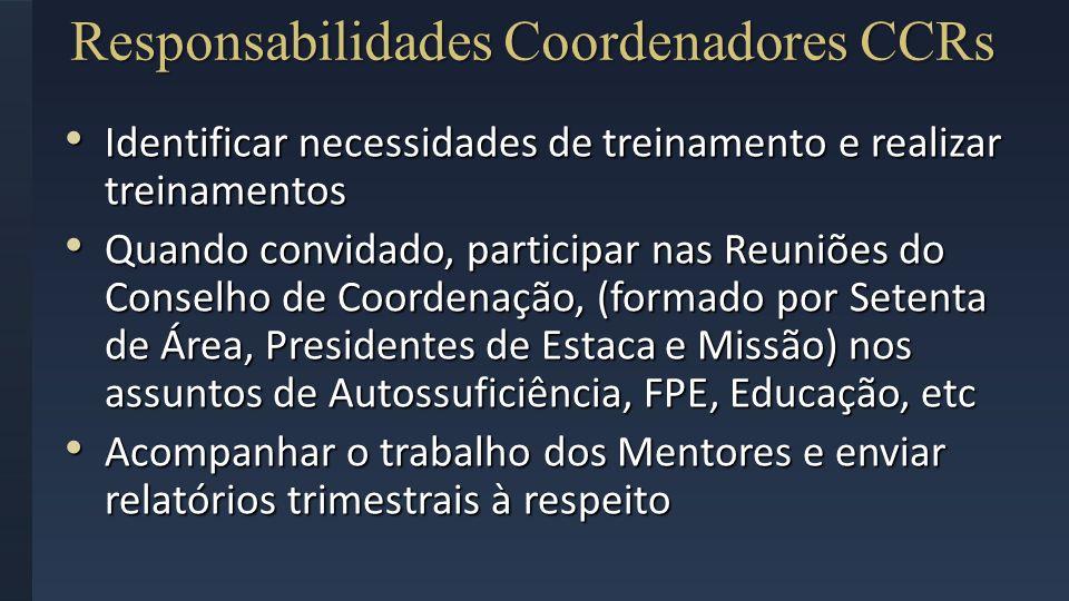 Responsabilidades Coordenadores CCRs