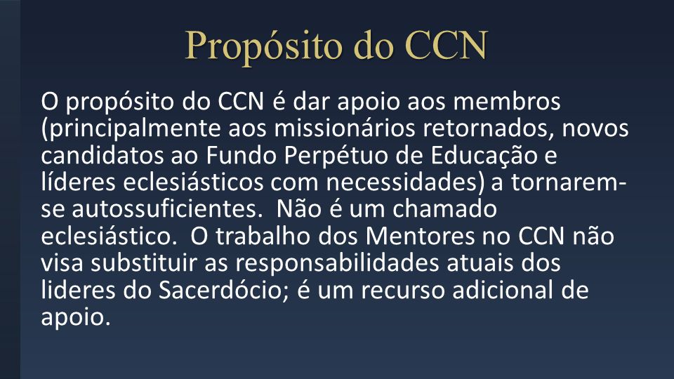 Propósito do CCN