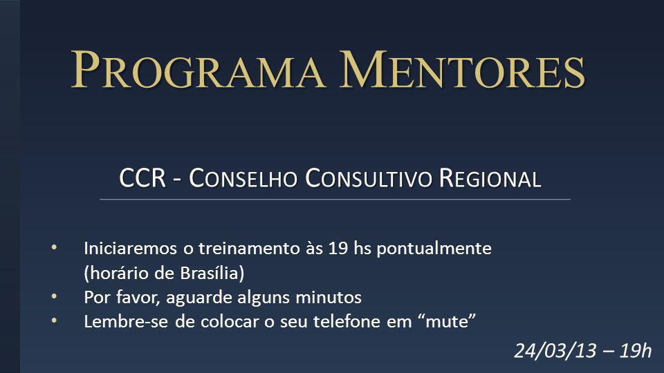 CCR - Conselho Consultivo Regional