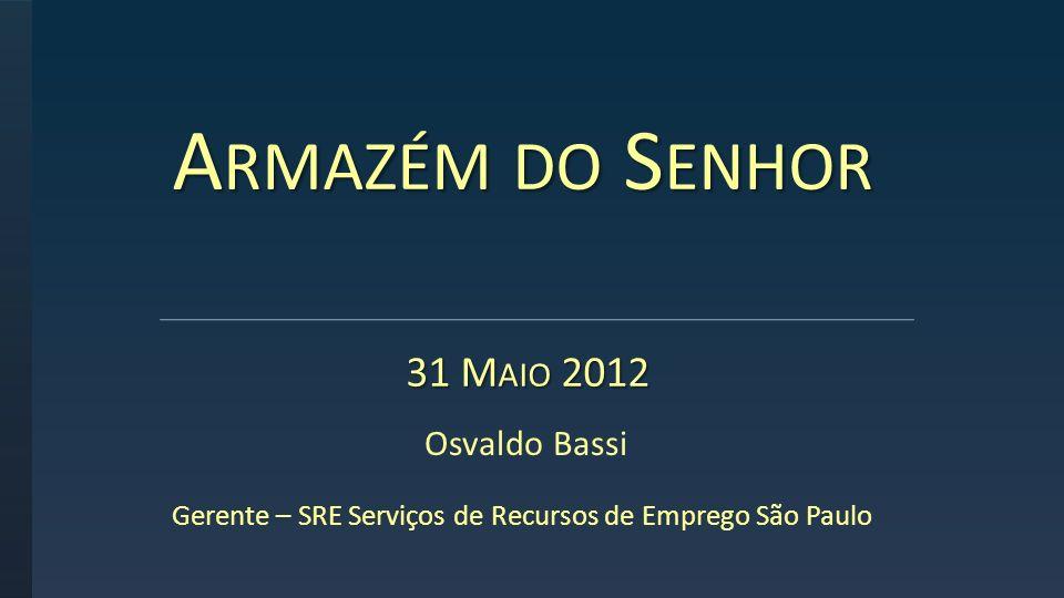 Gerente – SRE Serviços de Recursos de Emprego São Paulo