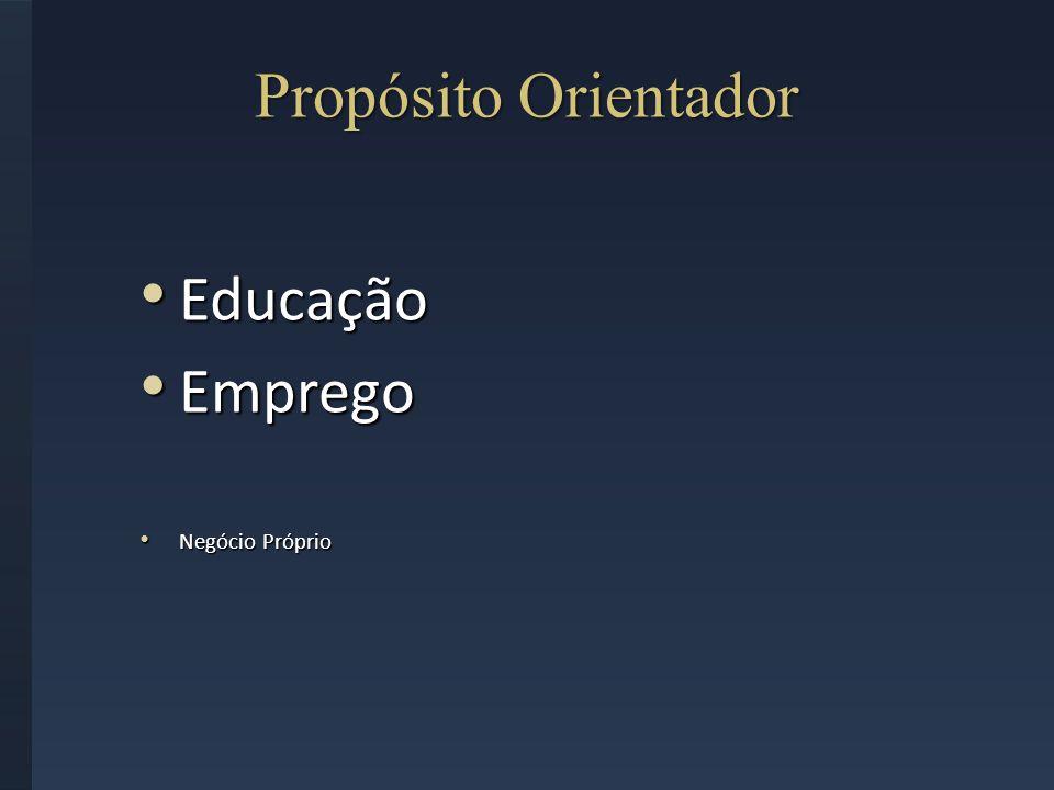 Propósito Orientador Educação Emprego Negócio Próprio