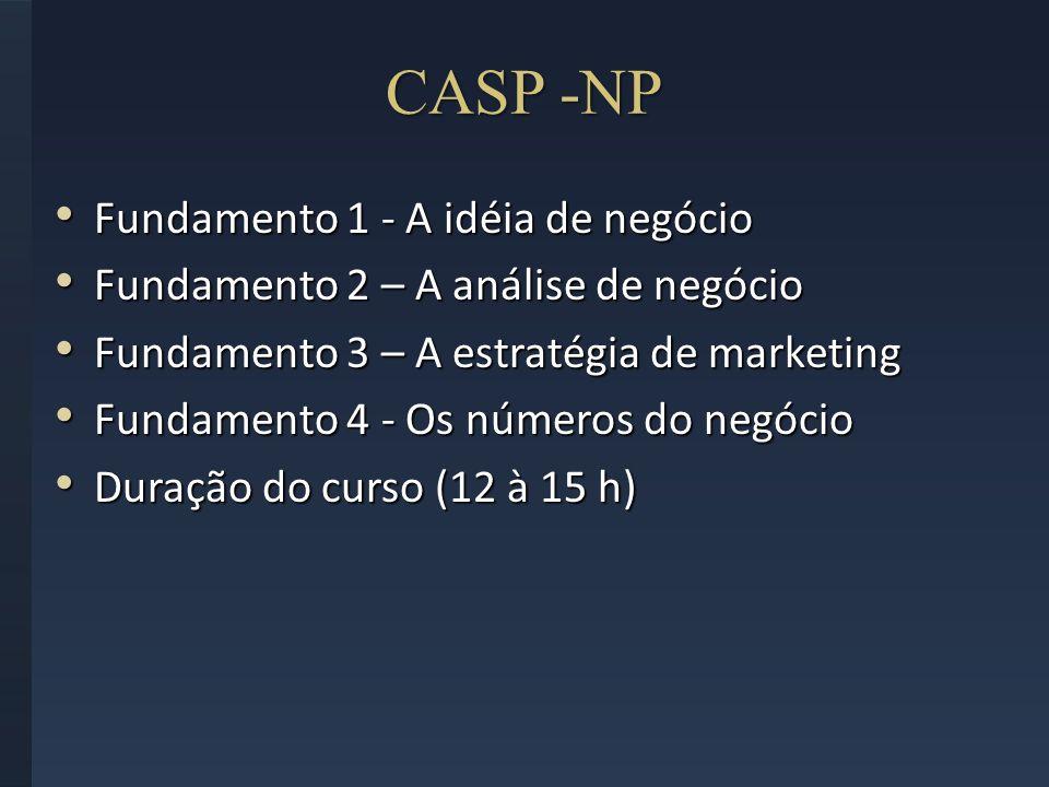 CASP -NP Fundamento 1 - A idéia de negócio