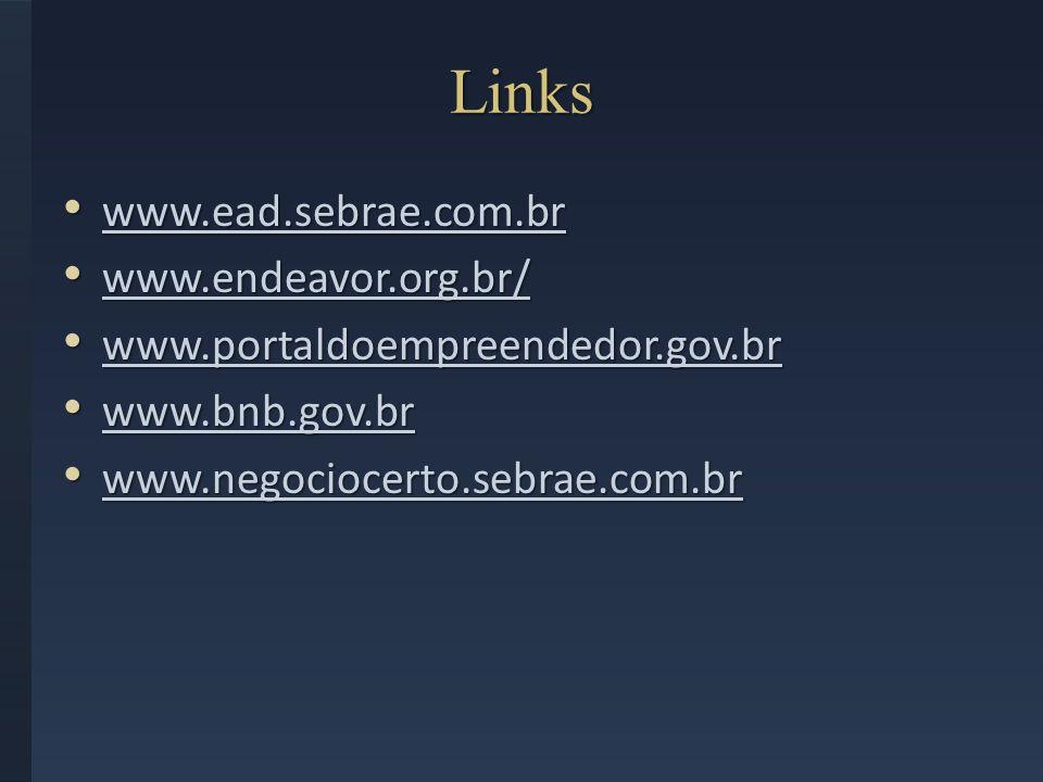 Links www.ead.sebrae.com.br www.endeavor.org.br/
