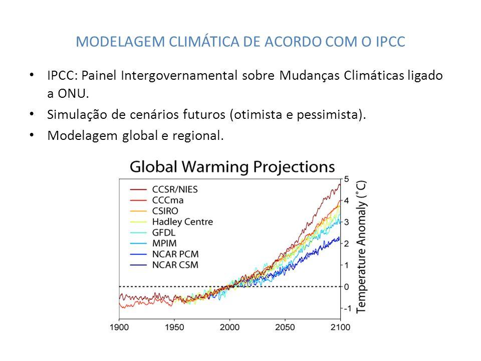 MODELAGEM CLIMÁTICA DE ACORDO COM O IPCC