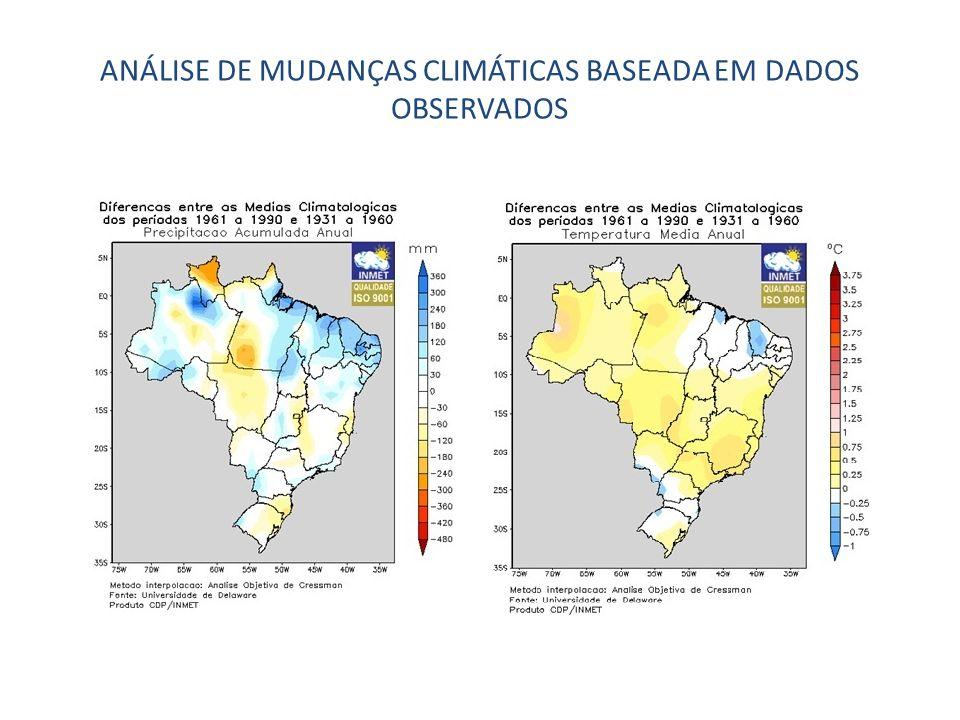ANÁLISE DE MUDANÇAS CLIMÁTICAS BASEADA EM DADOS OBSERVADOS