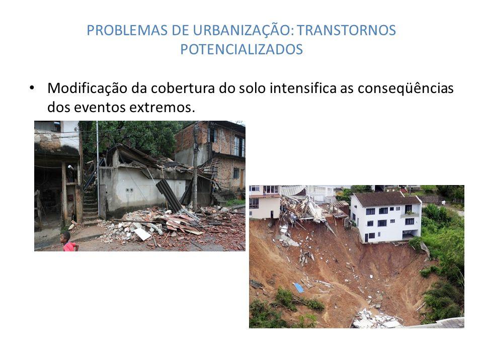 PROBLEMAS DE URBANIZAÇÃO: TRANSTORNOS POTENCIALIZADOS