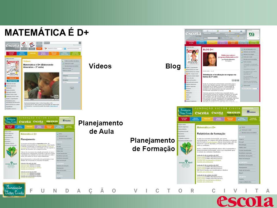 MATEMÁTICA É D+ Vídeos Blog Planejamento de Aula Planejamento