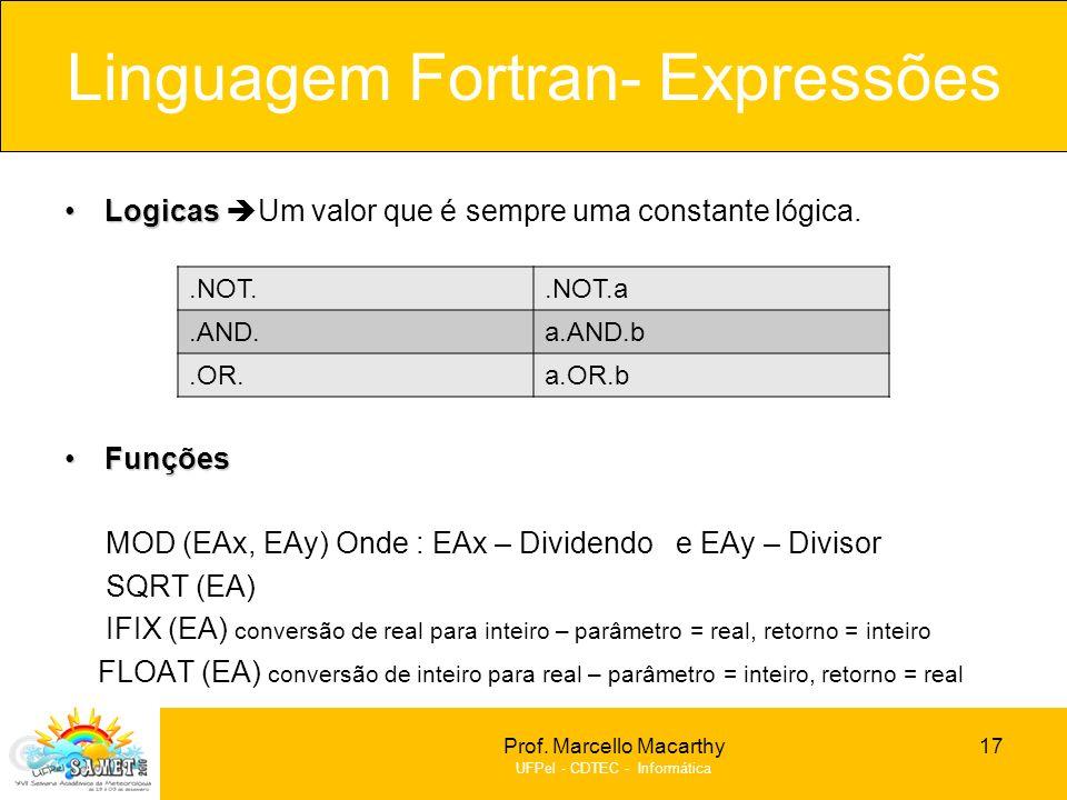 Linguagem Fortran- Expressões