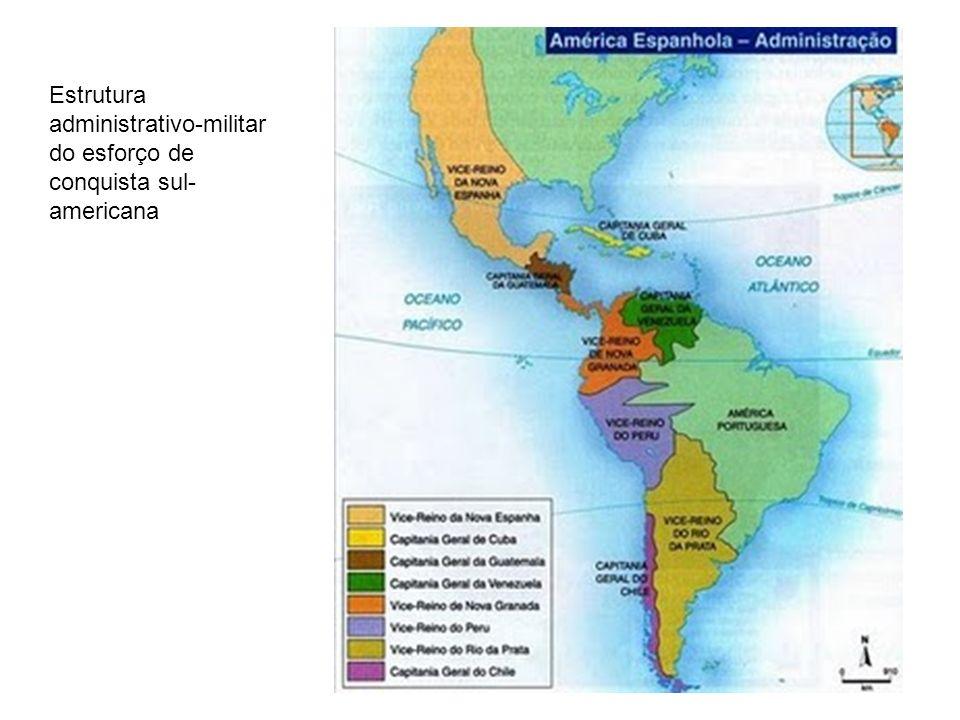Estrutura administrativo-militar do esforço de conquista sul-americana