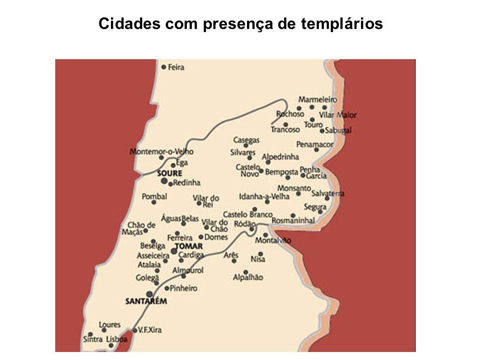Cidades com presença de templários