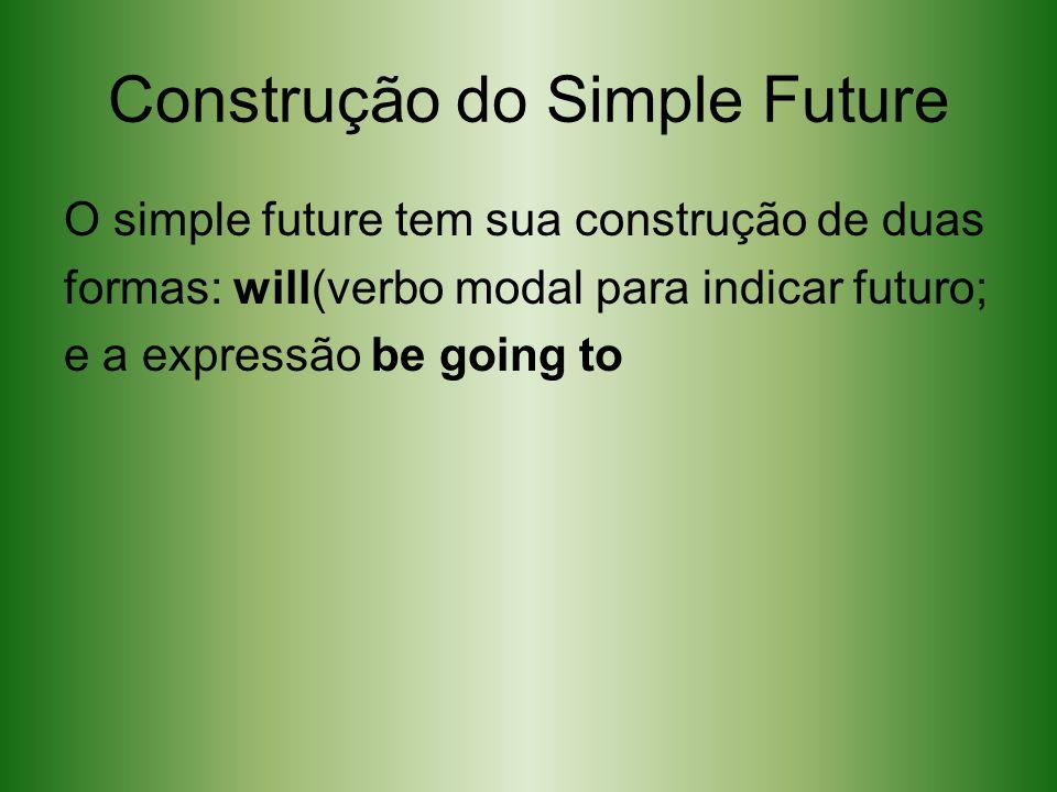 Construção do Simple Future