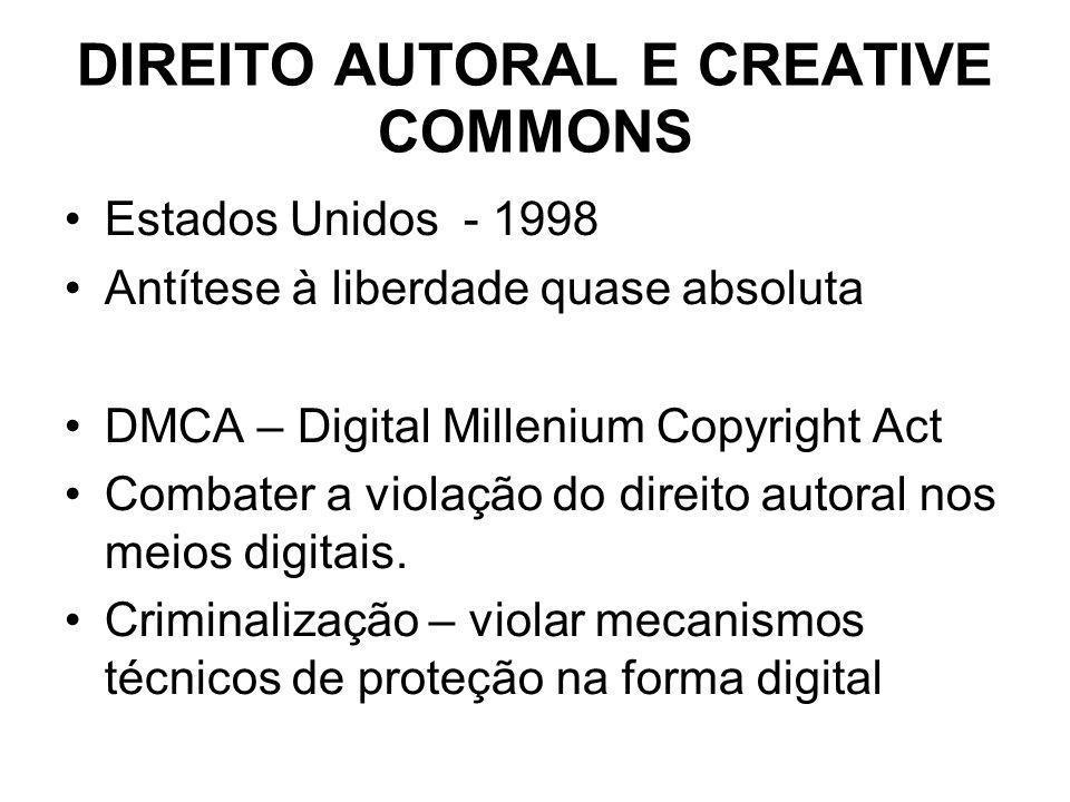 DIREITO AUTORAL E CREATIVE COMMONS
