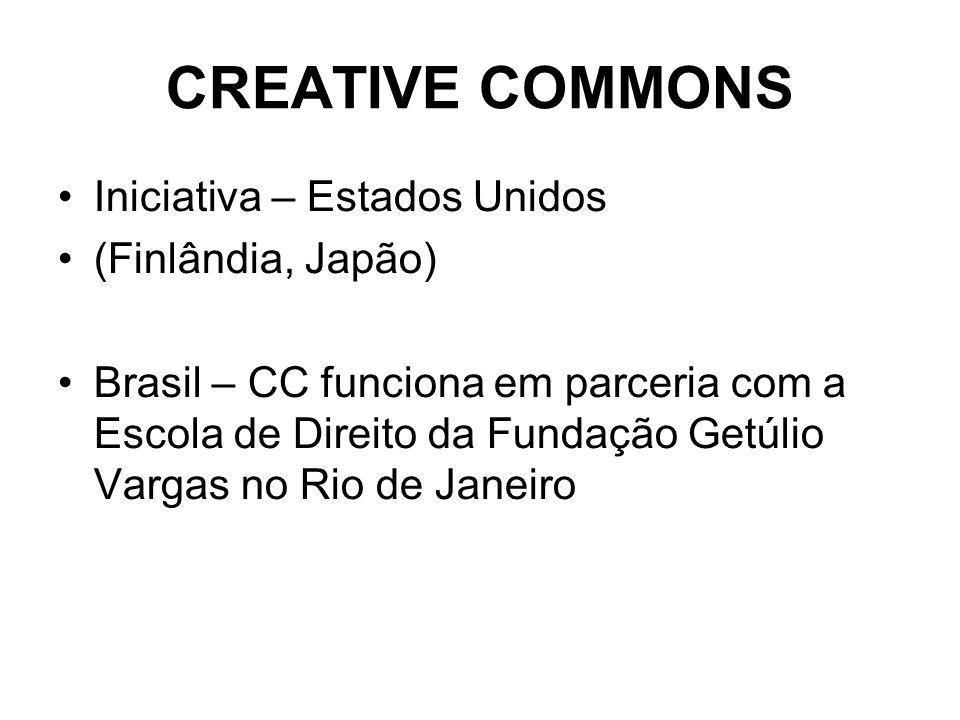 CREATIVE COMMONS Iniciativa – Estados Unidos (Finlândia, Japão)
