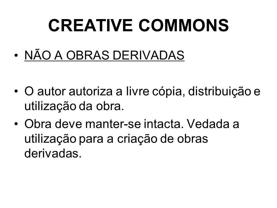 CREATIVE COMMONS NÃO A OBRAS DERIVADAS