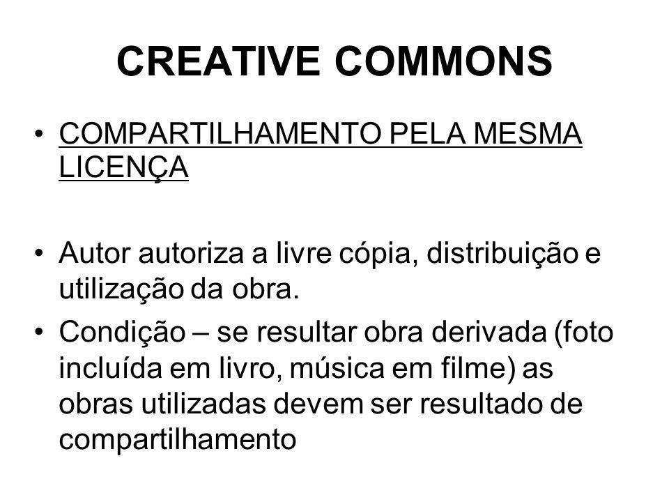 CREATIVE COMMONS COMPARTILHAMENTO PELA MESMA LICENÇA