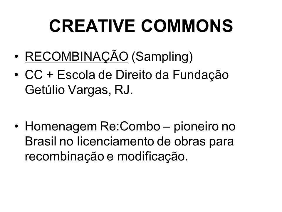 CREATIVE COMMONS RECOMBINAÇÃO (Sampling)