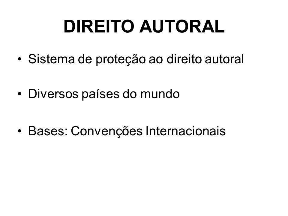 DIREITO AUTORAL Sistema de proteção ao direito autoral