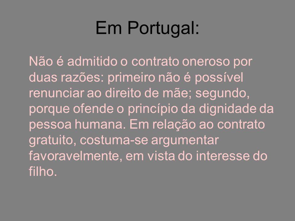 Em Portugal: