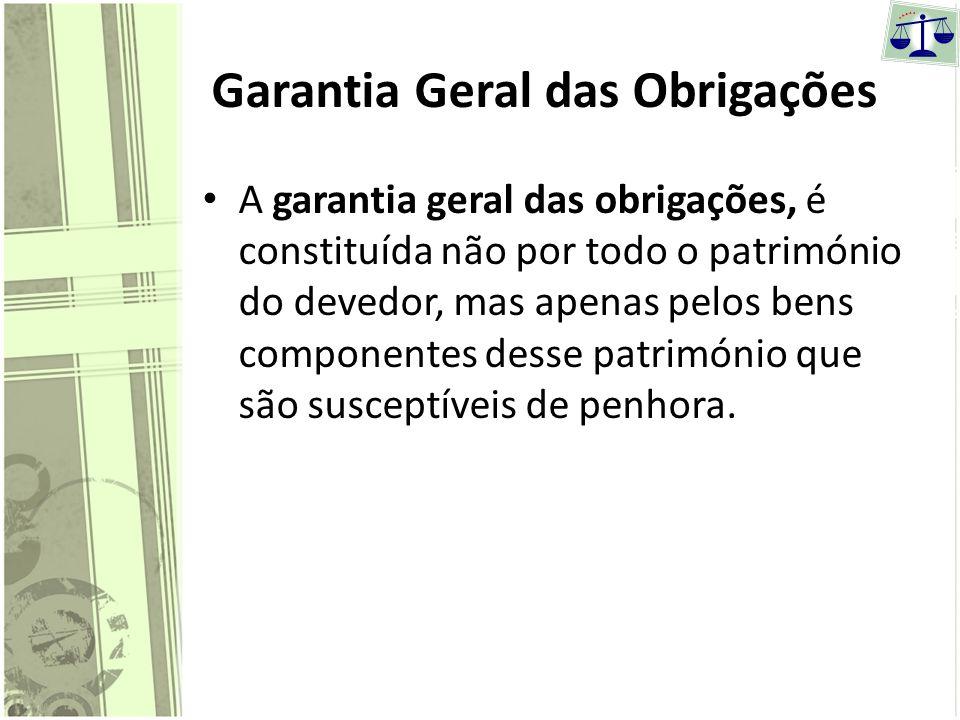 Garantia Geral das Obrigações