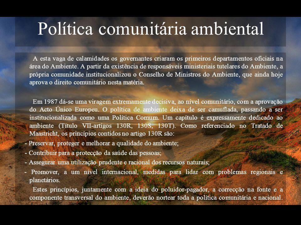 Política comunitária ambiental