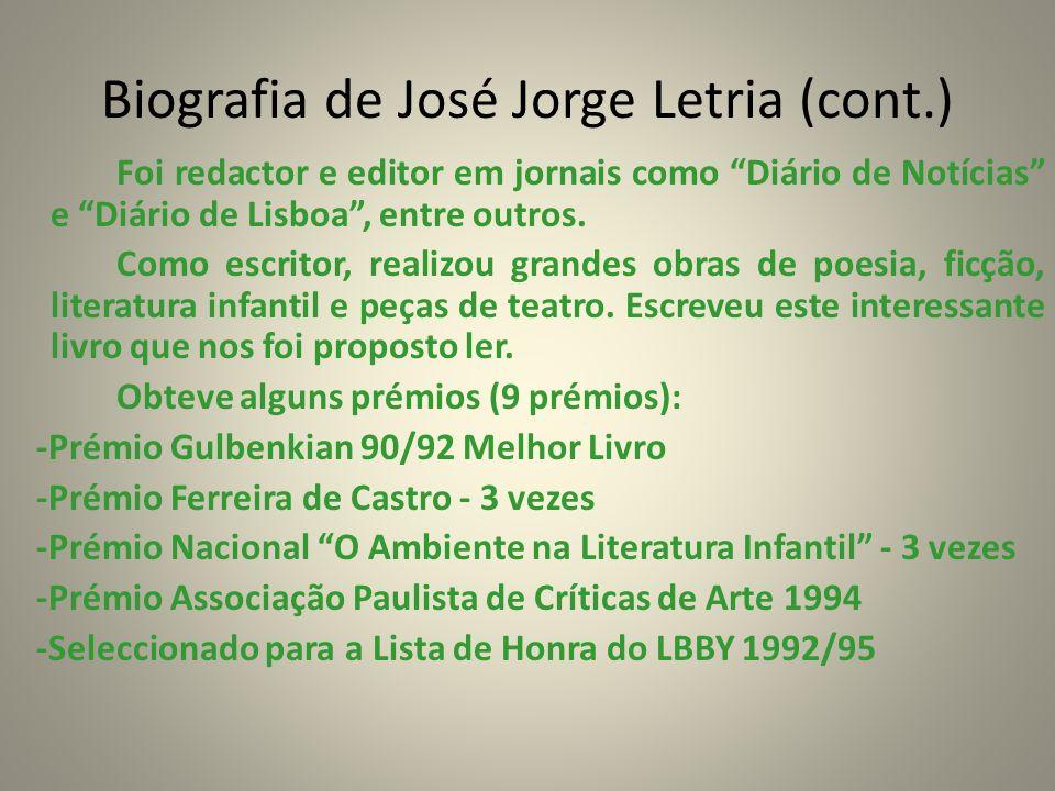 Biografia de José Jorge Letria (cont.)
