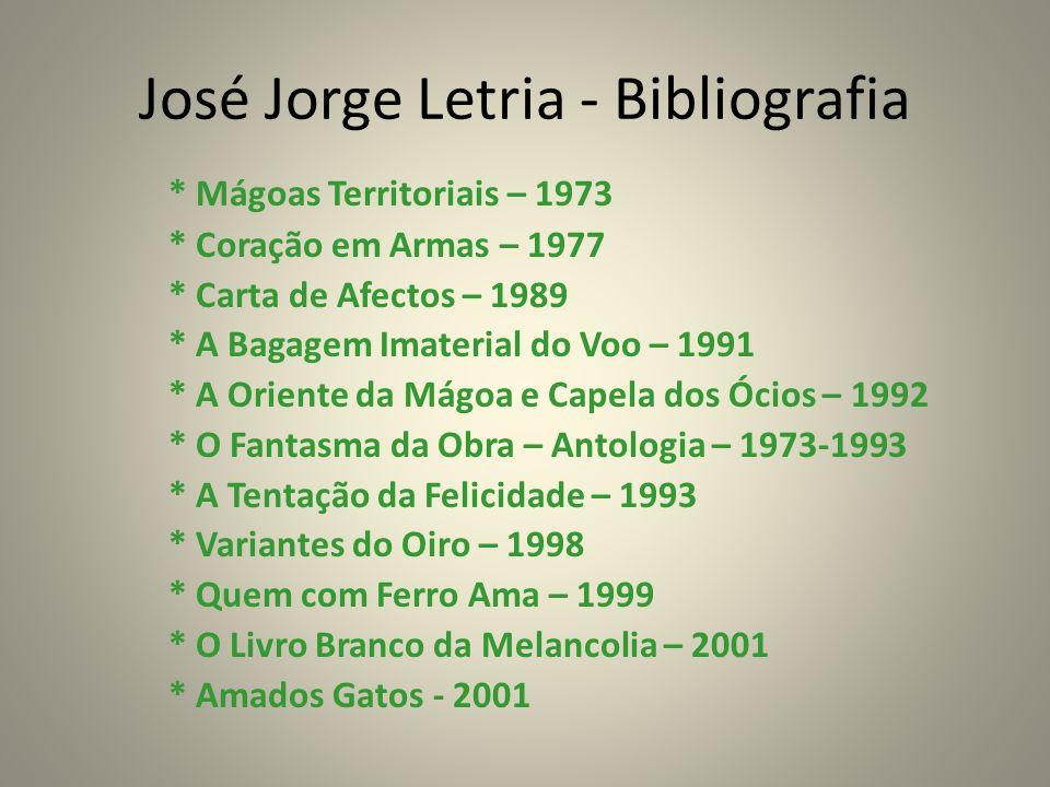 José Jorge Letria - Bibliografia