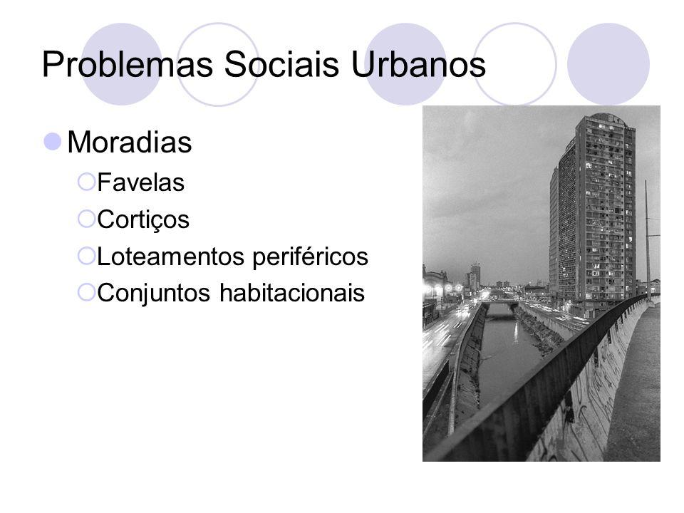 Problemas Sociais Urbanos