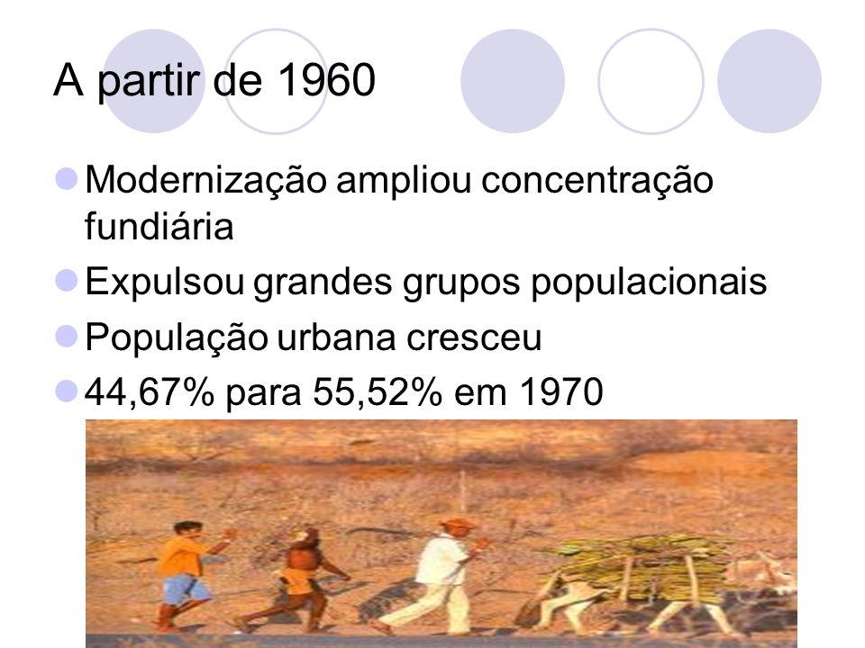 A partir de 1960 Modernização ampliou concentração fundiária