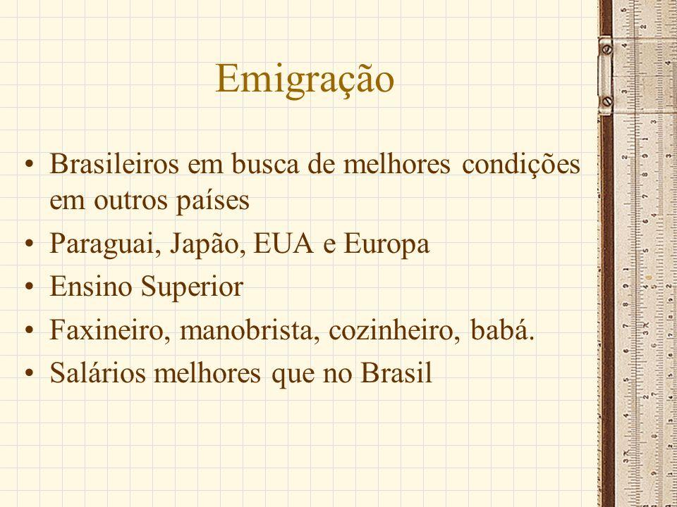 Emigração Brasileiros em busca de melhores condições em outros países