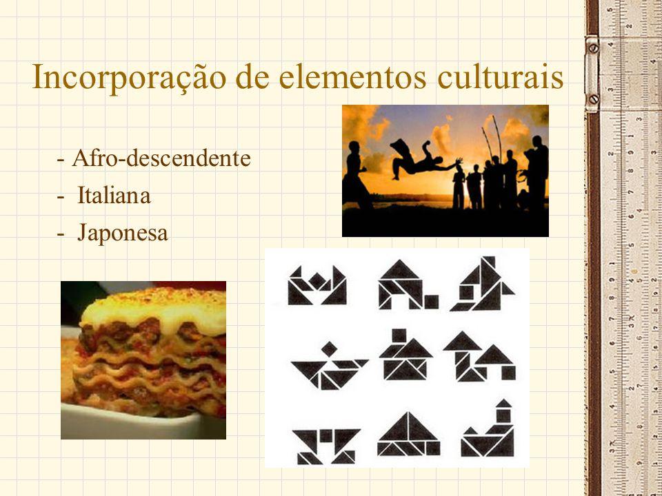 Incorporação de elementos culturais
