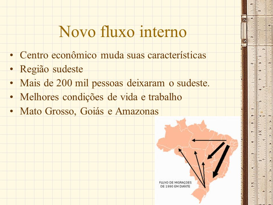 Novo fluxo interno Centro econômico muda suas características