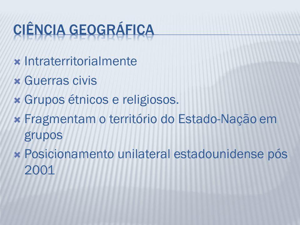 Ciência Geográfica Intraterritorialmente Guerras civis
